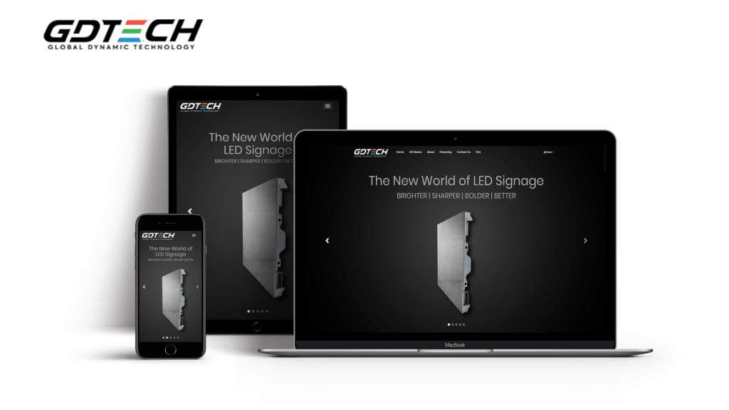 gdtech website in pc, mobile and tablet