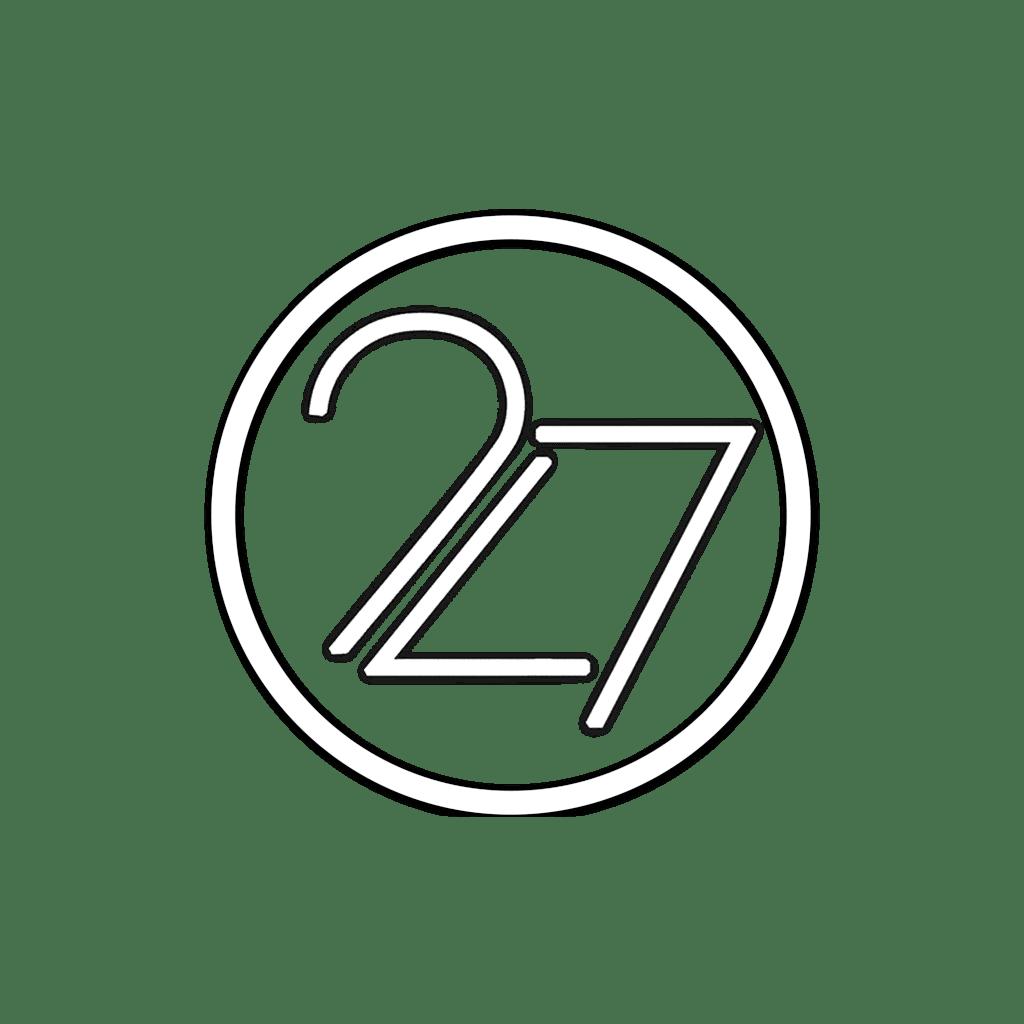white 247 logo