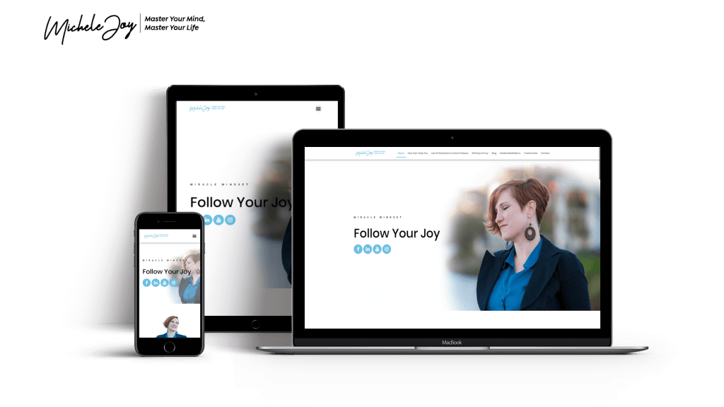 michele website in pc, mobile and tablet