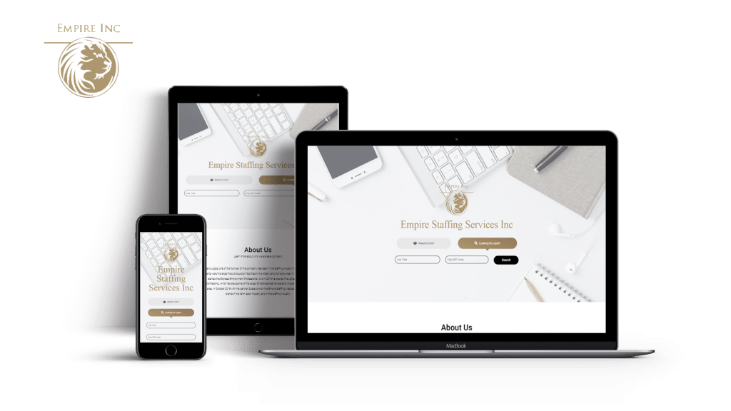 Website created for the client Empire Staffing Services Inc. that's properly optimized for PC, Tablets and Mobile Phone Users